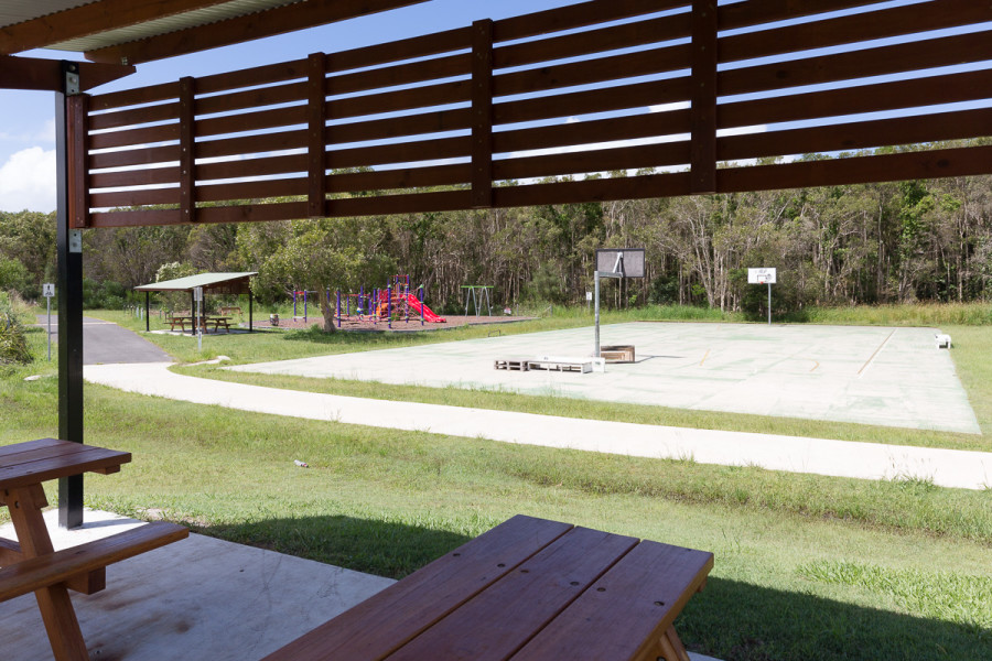 Beech Drive Sportsfields - covered picnic tables
